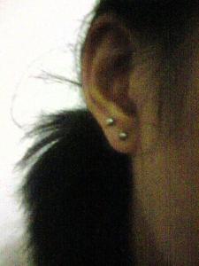 my right ear piercing
