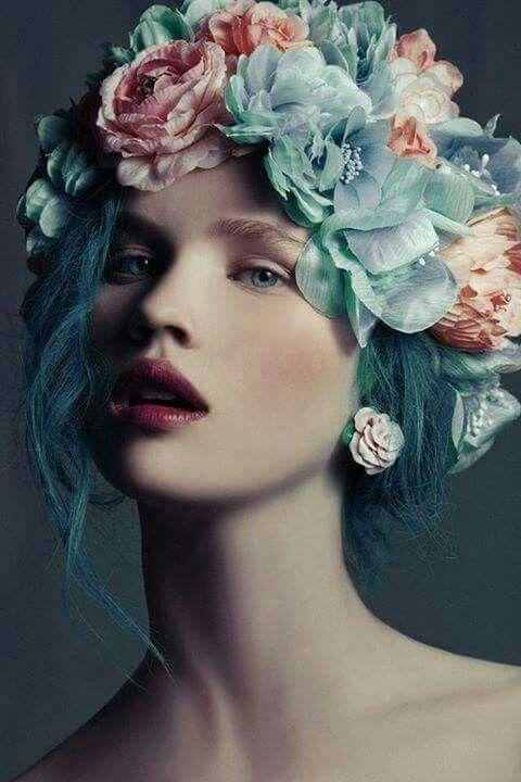 pastel blue hair